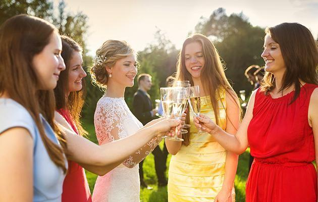 A wedding guest has been shamed for wearing the same dress to three weddings. Photo: Getty