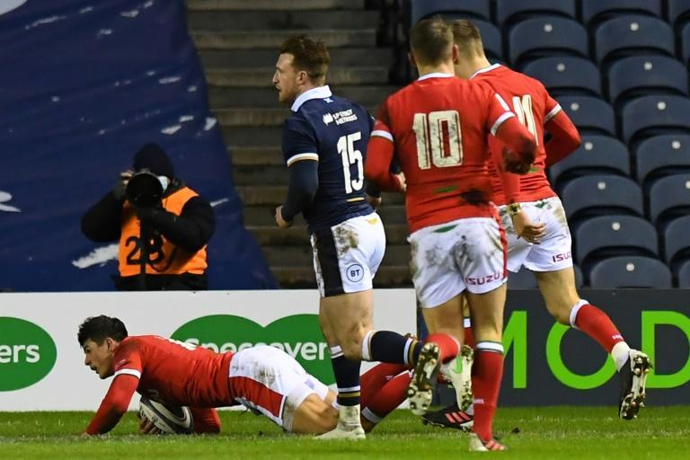 A star has been born says former Wales great Jonathan Davies of Wales' wing Louis Rees-Zammit man of the match in the 25-24 win over Scotland