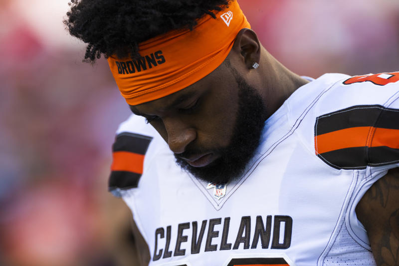 Cleveland Browns wide receiver Jarvis Landry either guaranteed a victory ... or he didn't. (Getty Images)
