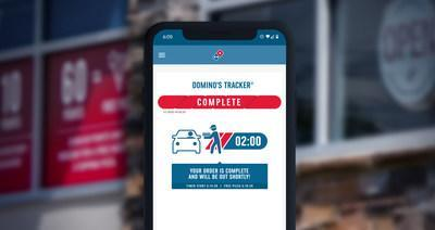 Domino's Carside Delivery 2-Minute Guarantee is simple: order Domino's Carside Delivery online, check in when you arrive, and as soon as your order is ready, a Domino's team member will head to your car in less than two minutes or your next pizza is free.