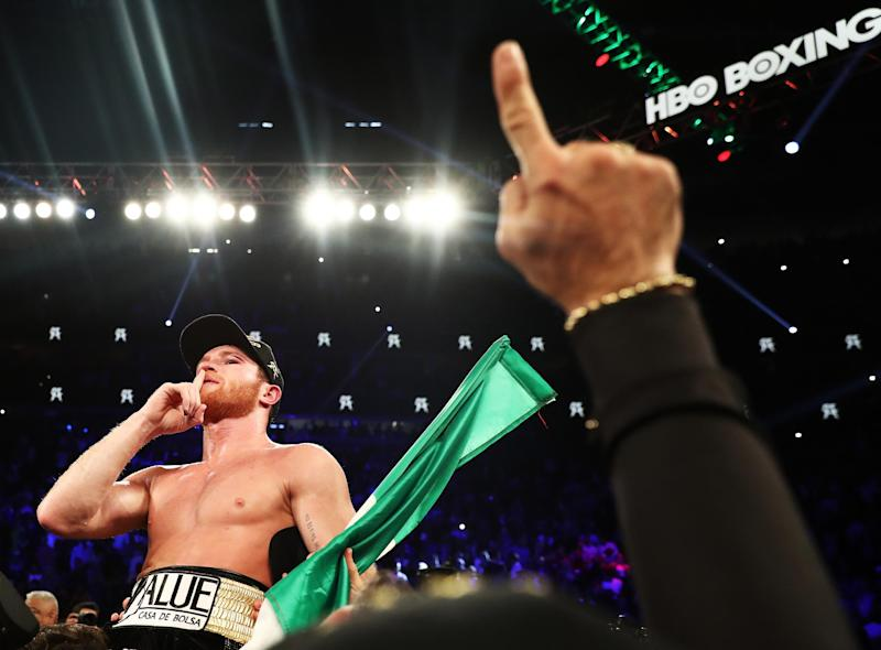 Canelo moves up two weight divisions to challenge at light heavyweight: Getty Images