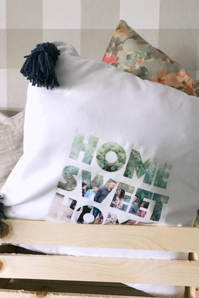 """<p>Dad loves his afternoon naps, so he deserves this personalized pillow that's fit for a king. All you need is a little bit of Photoshop magic, some photo transfer paper, and an iron. </p><p><em>Get the tutorial at <a href=""""https://lollyjane.com/diy-photo-text-pillow/"""" rel=""""nofollow noopener"""" target=""""_blank"""" data-ylk=""""slk:Lolly Jane."""" class=""""link rapid-noclick-resp"""">Lolly Jane.</a></em><br><br><strong><a class=""""link rapid-noclick-resp"""" href=""""https://www.amazon.com/Inkjet-Transfers-Paper-8-5x11-PPD001-10/dp/B004BF6BZI?tag=syn-yahoo-20&ascsubtag=%5Bartid%7C10070.g.32697573%5Bsrc%7Cyahoo-us"""" rel=""""nofollow noopener"""" target=""""_blank"""" data-ylk=""""slk:SHOP PHOTO TRANSFER PAPER"""">SHOP PHOTO TRANSFER PAPER </a></strong><br><br></p>"""