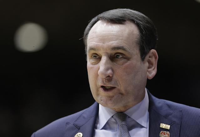 Mike Krzyzewski shared his thoughts on his recruiting strategy. (AP)