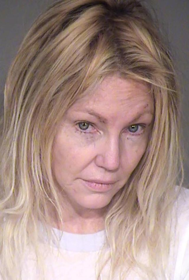 Heather Locklear, shown in a new mug shot, has been arrested again. (Photo: TMZ)