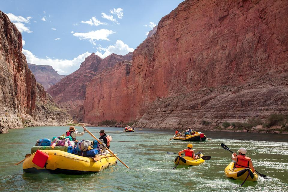 "<p>As the weather gets increasingly hot in Phoenix, residents flock to northern Arizona for cooler temperatures. (Well, relatively cooler.) In a year when national parks are proving to be a socially distanced refuge, follow the locals to the Grand Canyon to enjoy the world wonder in all its glory. Aim to hit the trails by 10 a.m. at the latest to dodge the big crowds and searing sun—although you should pack <a href=""https://www.cntraveler.com/gallery/best-sunscreen-you-can-buy?mbid=synd_yahoo_rss"" rel=""nofollow noopener"" target=""_blank"" data-ylk=""slk:extra sunscreen"" class=""link rapid-noclick-resp"">extra sunscreen</a> just in case.</p> <p><strong>Stay here:</strong> Book a room at the <a href=""https://cna.st/affiliate-link/GxyGifxJVt8eS46RH4tHmENL8vrWShhCAd6ygRx8ocoupkMyBWAFFTidAAwutfQRAnJu5aSH58Mr27MJvW4x855LyE6kRSKaCY4Ae26v8vncWoXGwVsEebfhioSLNtj2MmtiGYc9pEQcmapA3ZG8eEqA6bKU9PRaDyDU24a33hiu?cid=606f22391243ed65f16c0da6"" rel=""nofollow noopener"" target=""_blank"" data-ylk=""slk:Grand Canyon Railway & Hotel"" class=""link rapid-noclick-resp"">Grand Canyon Railway & Hotel</a>, located in Williams right next door to the Grand Canyon Railway train depot. Here you'll be just a train ride—a very scenic train ride—away from the Grand Canyon, and you can avoid the long lines of traffic into the park. It's even possible to <a href=""https://cna.st/affiliate-link/EmXFUGnvfqr4tthF6geGKd54JSqWK29xBKmAxkCn7xub43SAC7gTag5rS2mJCUgnj5VRWBrdxy2RLhpyKnHcn2?cid=606f22391243ed65f16c0da6"" rel=""nofollow noopener"" target=""_blank"" data-ylk=""slk:charter"" class=""link rapid-noclick-resp"">charter</a> an entire railway car complete with chefs and bartenders, ideal for <a href=""https://www.cntraveler.com/celebration-travel?mbid=synd_yahoo_rss"" rel=""nofollow noopener"" target=""_blank"" data-ylk=""slk:milestone moments"" class=""link rapid-noclick-resp"">milestone moments</a> like graduation, family reunions, or birthday.</p>"