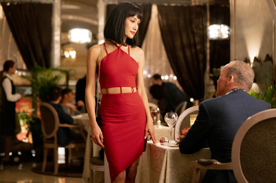 """This image released by Lionsgate shows Maggie Q in a scene from """"The Protégé."""" (Jichici Raul/Lionsgate via AP)"""