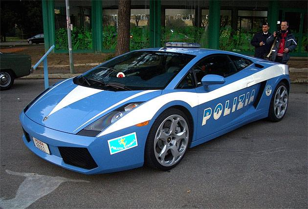 In 2004 Lamborghini handed over two Gallardo LP560-4s to the Roman State Polizia. One of them was crashed recently and the other one still doing the rounds.