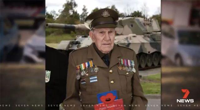 The 96-year-old is a WWII army veteran. Source: 7 News