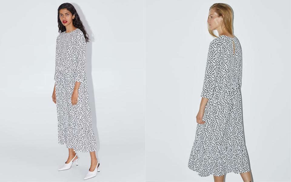 Have you bought Zara's cult polka dot dress yet? [Photo: Zara]