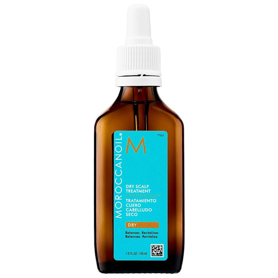 """<h3><a href=""""https://www.sephora.com/product/dry-scalp-treatment-P427317"""" rel=""""nofollow noopener"""" target=""""_blank"""" data-ylk=""""slk:Moroccanoil Dry Scalp Treatment"""" class=""""link rapid-noclick-resp"""">Moroccanoil Dry Scalp Treatment</a></h3><br>""""I like this leave-in oil because it soothes the scalp with argan oil, exfoliates gently with salicylic acid, and helps repair the skin barrier,"""" Dr. Gmyrek says.<br><br><strong>Moroccanoil</strong> Dry Scalp Treatment, $, available at <a href=""""https://go.skimresources.com/?id=30283X879131&url=https%3A%2F%2Fwww.sephora.com%2Fproduct%2Fdry-scalp-treatment-P427317"""" rel=""""nofollow noopener"""" target=""""_blank"""" data-ylk=""""slk:Sephora"""" class=""""link rapid-noclick-resp"""">Sephora</a>"""
