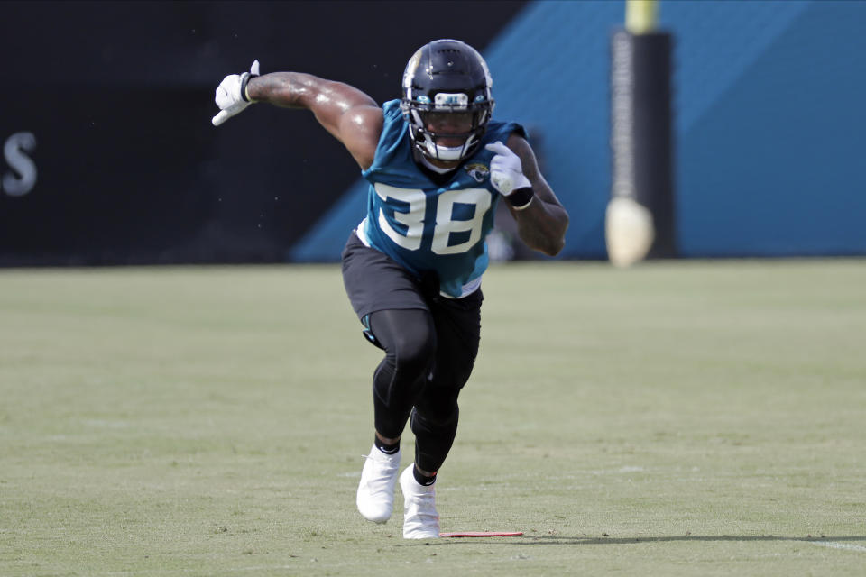Jacksonville Jaguars running back James Robinson