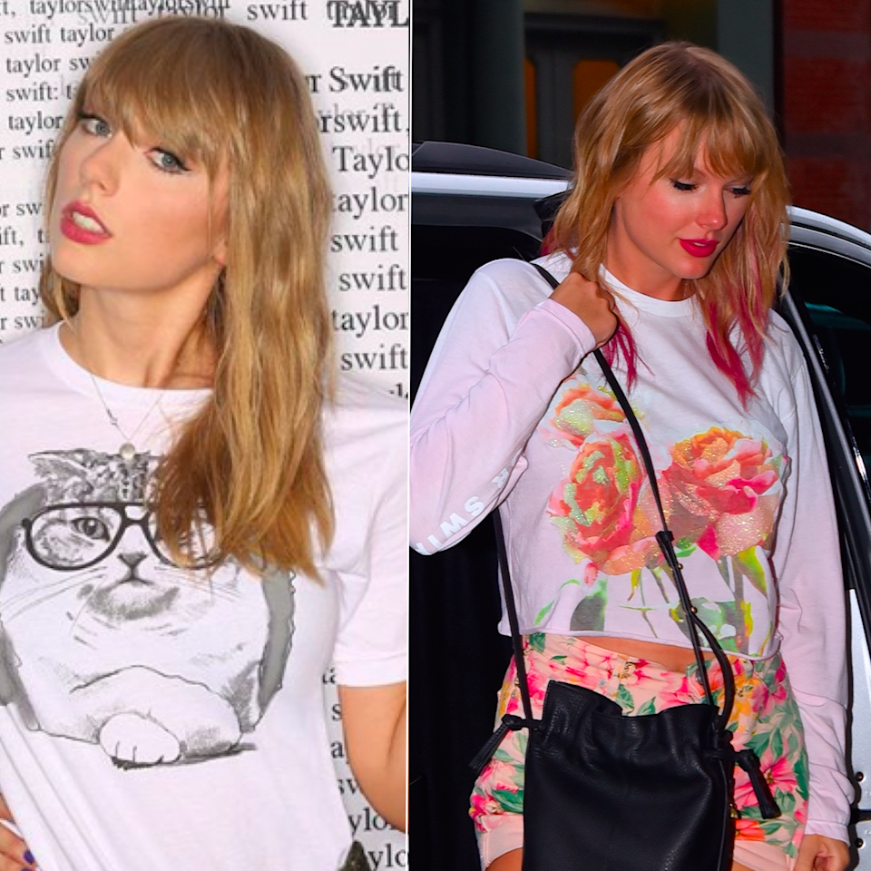 """Taylor Swift appears to be preparing for some sort of major release. As eagle-eyed fans have noted, the singer recently changed the color palette of her <a rel=""""nofollow"""" href=""""https://www.instagram.com/taylorswift/"""">Instagram feed</a> to reflect an aesthetic that includes a lot of pink with a helping of sparkle. Fans speculate that she's dropping either new music or a clothing line coming soon — either way, she's gotten pink hair to match the mood. Swift added a few inches of the hue from her shoulder to her ends, which gives her kind of a punky vibe, strangely in contrast with her kittens-and-hearts-filled IG feed."""