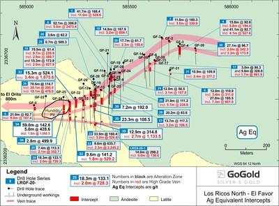 Figure 2: El Favor Drill Hole Locations (CNW Group/GoGold Resources Inc.)