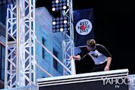 <p>Yes, it would appear Amell conquers the Warped Wall and gets to hit the buzzer at the top, as if there were any doubt.<br><br>(Photo: Tyler Golden/NBC) </p>