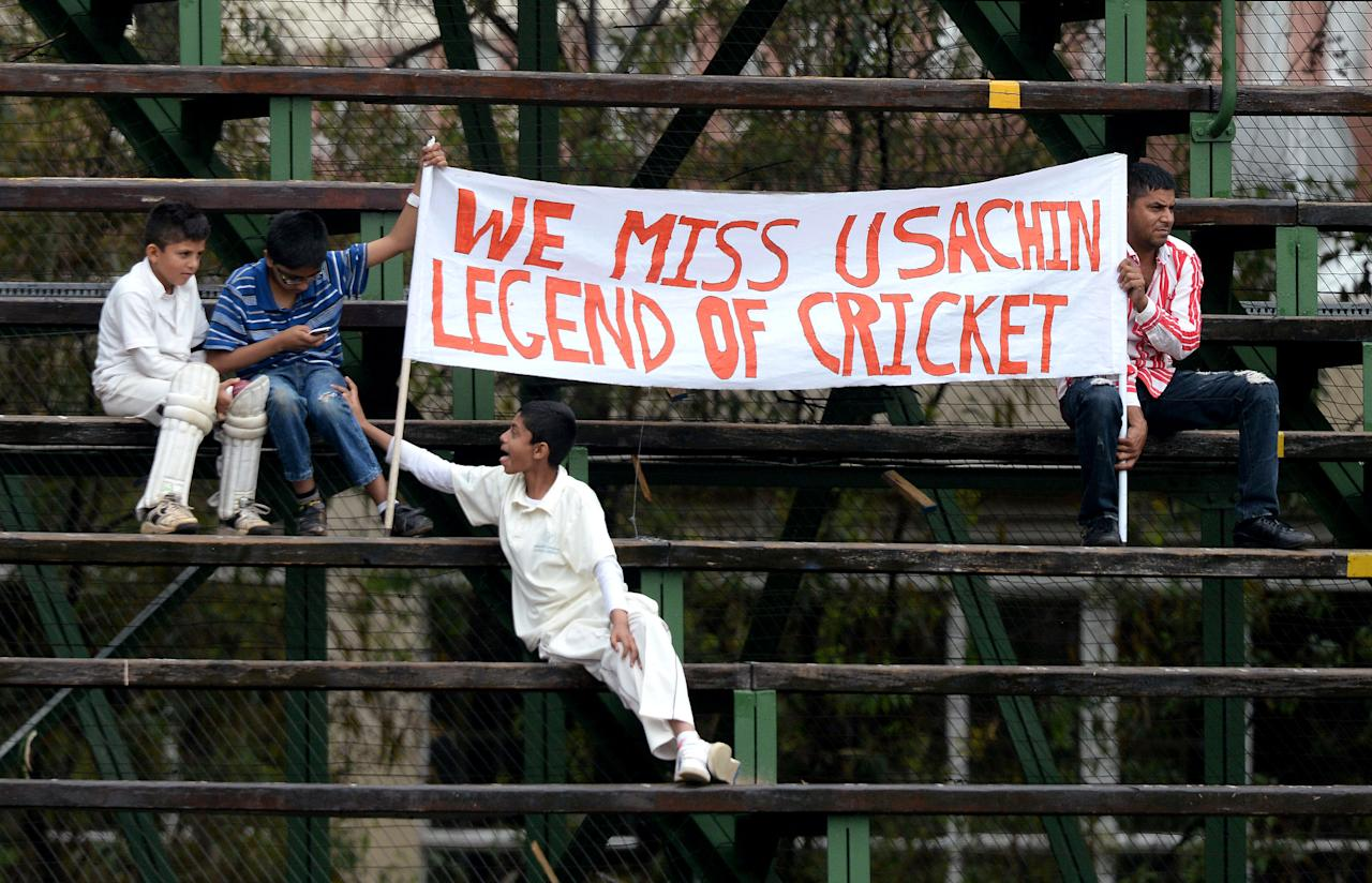 JOHANNESBURG, SOUTH AFRICA - DECEMBER 19: Fans look on from the stands during day 2 of the 1st Test match between South Africa and India at Bidvest Wanderers Stadium on December 19, 2013 in Johannesburg, South Africa. (Photo by Duif du Toit/Gallo Images/Getty Images)