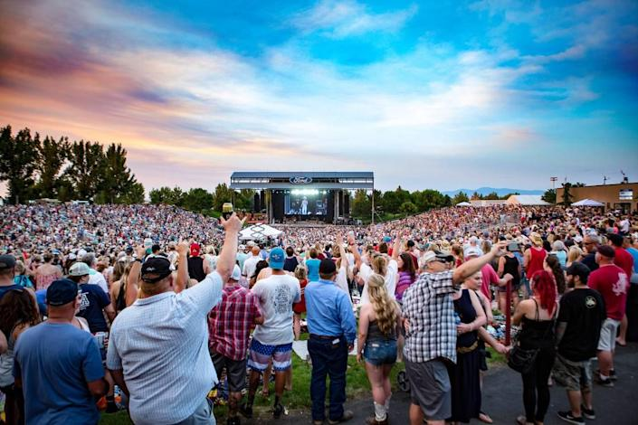 Kenny Chesney packed in more than 10,000 fans when he performed at Ford Idaho Center Amphitheater in Nampa in 2018.