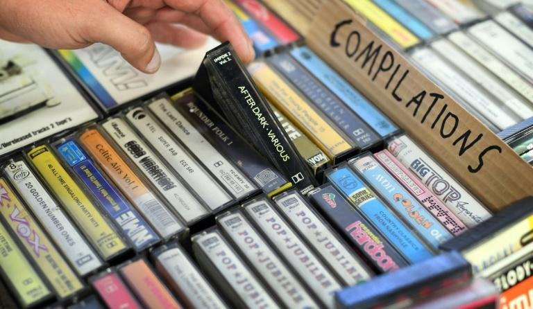 While they may have been relegated to being 'niche', cassette sales hit their highest in 17 years in 2020 (AFP/PAUL ELLIS)