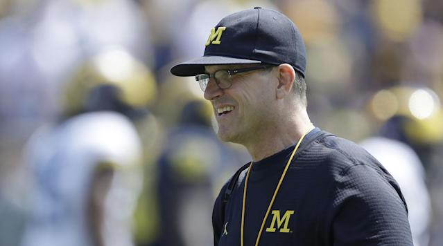 Jim Harbaugh doubled Michigan's win total in 2015, his first season leading the program, endearing himself to Wolverines fans everywhere.