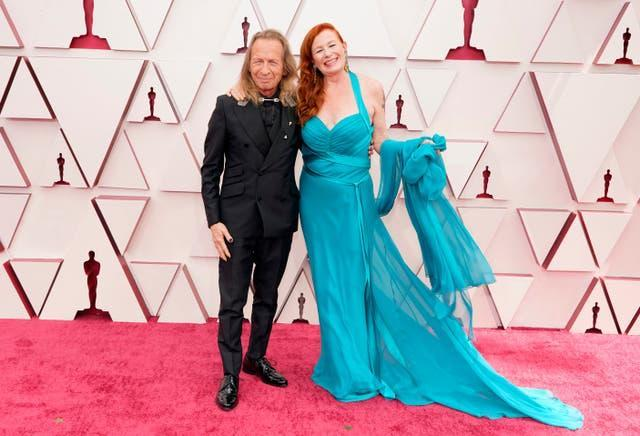 Paul Raci, left, and Liz Hanley Raci at the Oscars