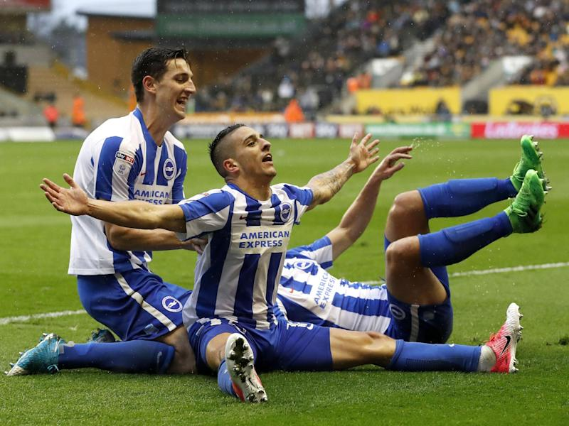 A win against Wigan on Monday would see Brighton go up automatically: Getty