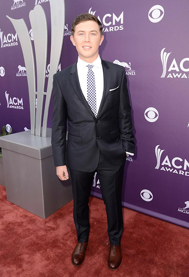 LAS VEGAS, NV - APRIL 07:  Singer Scotty McCreery attends the 48th Annual Academy of Country Music Awards at the MGM Grand Garden Arena on April 7, 2013 in Las Vegas, Nevada.  (Photo by Frazer Harrison/ACMA2013/Getty Images for ACM)