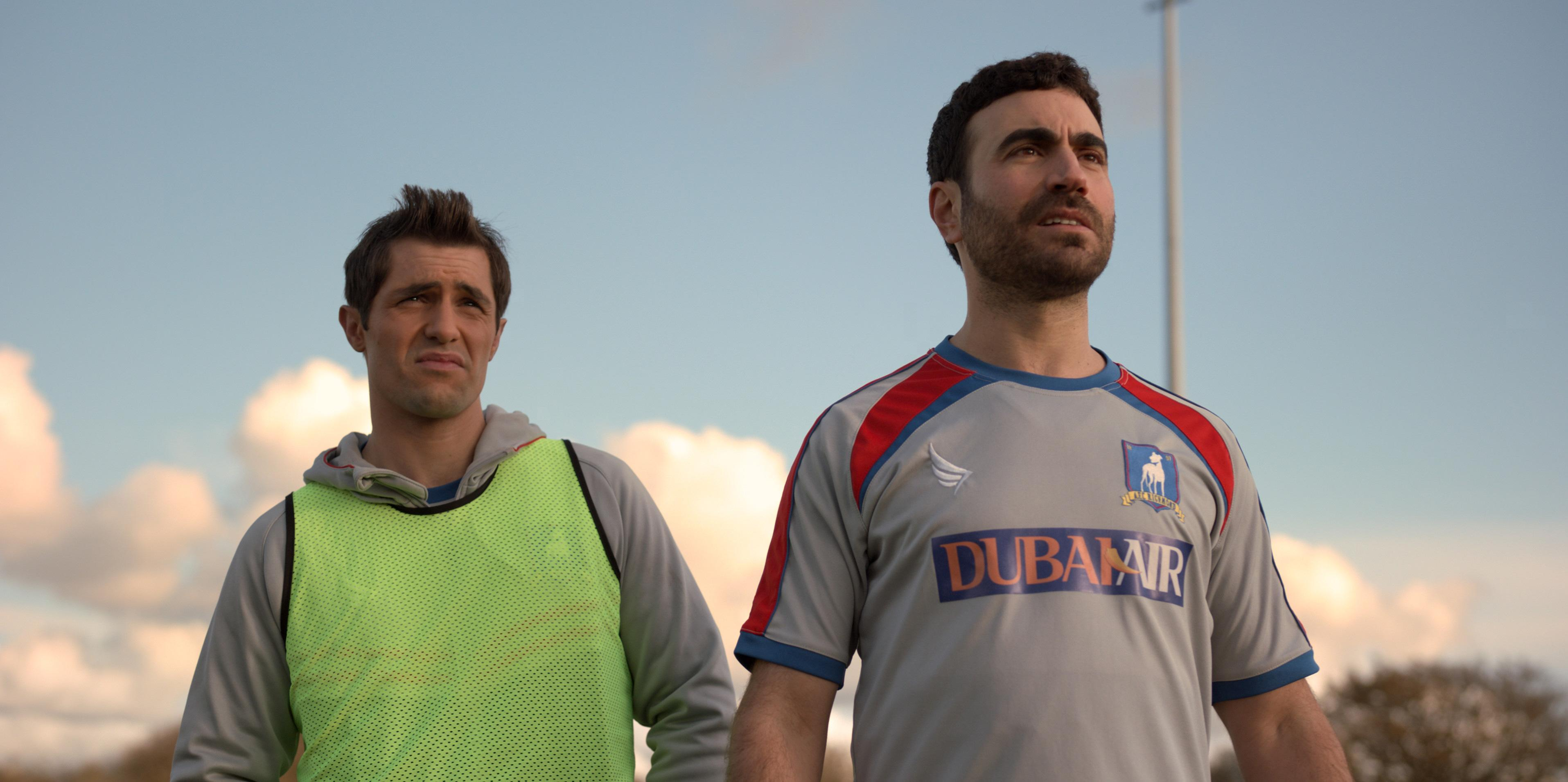 Phil Dunster and Brett Goldstein in 'Ted Lasso', premiering globally on Friday, August 14, on Apple TV+.