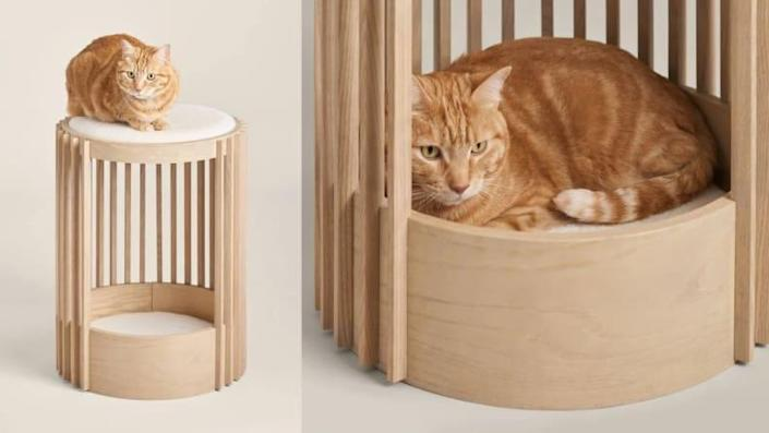 This cat tower doubles as a piece of modern decor.