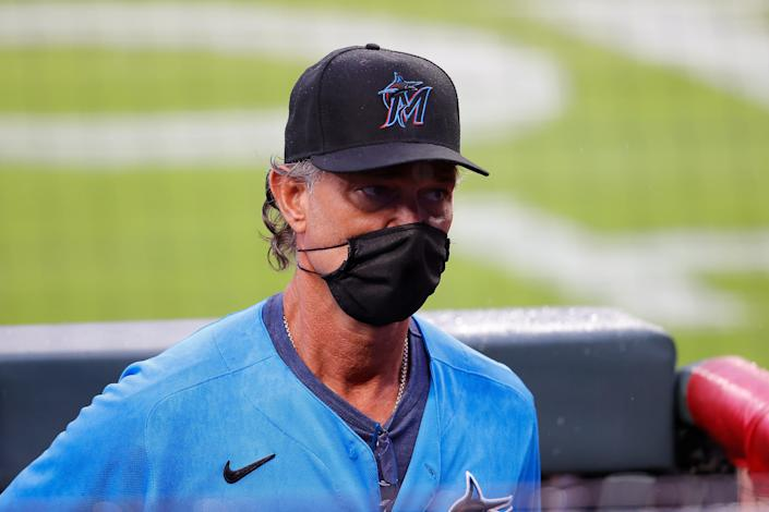 When the Marlins resume play in Baltimore, manager Don Mattingly will be working with a roster depleted and then hastily transformed amid an outbreak. (Photo by Kevin C. Cox/Getty Images)