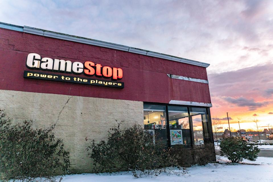 A GameStop store in Athens, Ohio, US. Photo: Stephen Zenner/SOPA Images/LightRocket via Getty