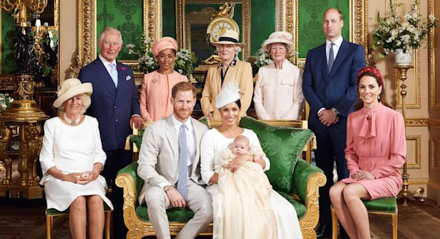 The Cambridges shared a picture from Archie's christening. (Press Association)