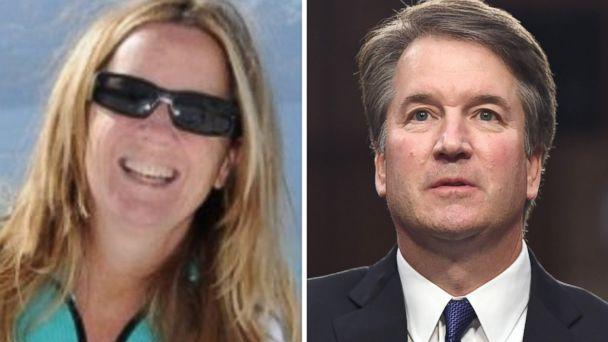 PHOTO: Professor Christine Blasey Ford is seen in an undated photo posted to ResearchGate and Supreme Court Justice nominee Brett Kavanaugh appears at a confirmation hearing in Washington, Sept. 4, 2018. (Researchgate.net | AFP/Getty Images)