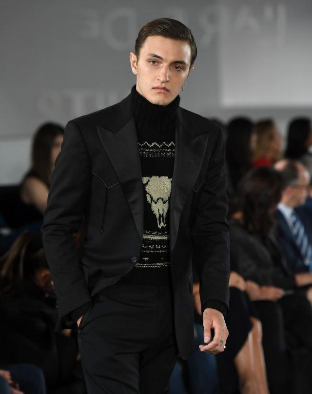 Bella and Gigi's younger brother, Anwar Hadid, modeled subtle and stylish pieces from the Ralph Lauren collection