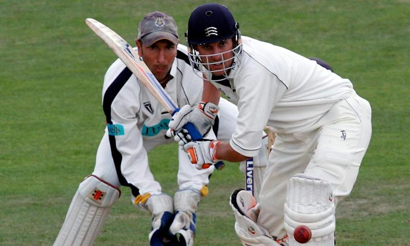 Following on: Ed Smith went from batting for Middlesex to running the University of Buckingham's history of sport MA.