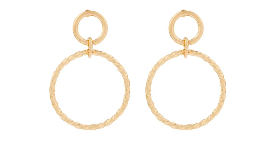 Twisted circle drop earrings