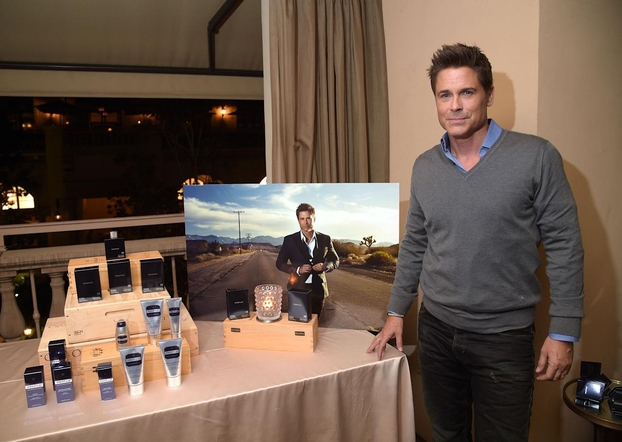 """BEVERLY HILLS, CA - MARCH 09:  Actor Rob Lowe attends the launch of """"18 Amber Wood"""" by Profile at Montage Beverly Hills on March 9, 2016 in Beverly Hills, California.  (Photo by Jason Kempin/Getty Images for Profile)"""