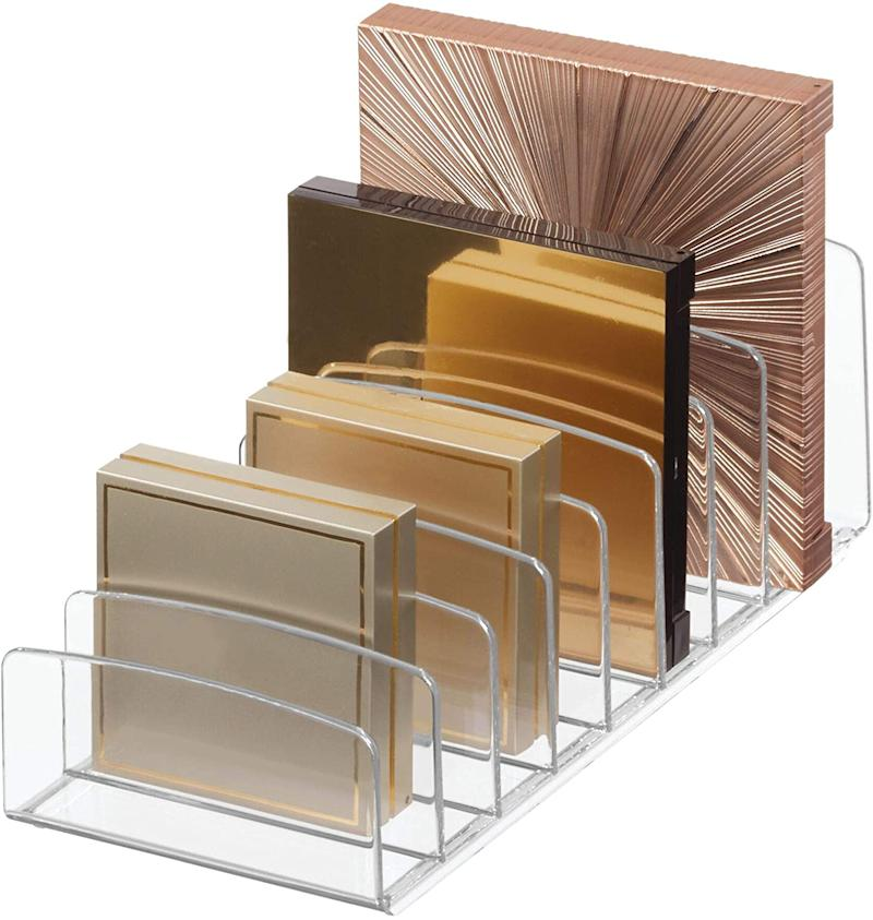 iDesign Clarity Vertical Plastic Palette Organizer. (Image via Amazon)