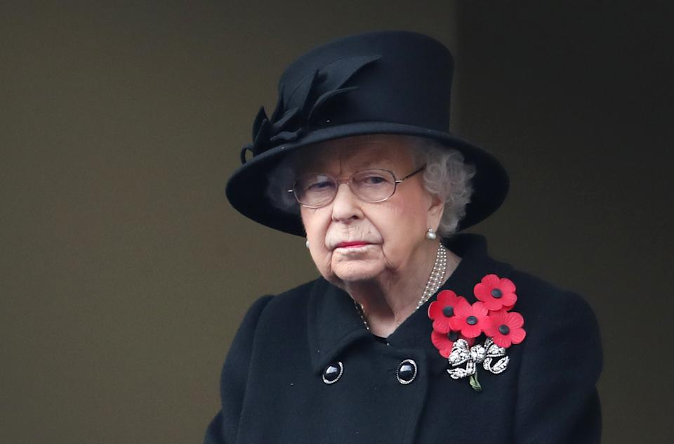 Queen Elizabeth II during the National Service of Remembrance