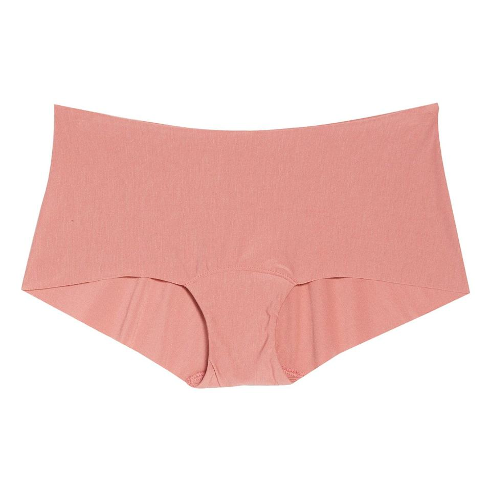 """<p>If you're in need of some new comfortable underwear options, consider these seamless hipster panties from Commando. They offer full coverage with raw-cut edges to eliminate pesky panty lines.</p> <p><strong>To buy</strong>: from $21 (was $28); <a href=""""https://click.linksynergy.com/deeplink?id=93xLBvPhAeE&mid=1237&murl=http%3A%2F%2Fshop.nordstrom.com%2Fs%2Fcommando-butter-seamless-hipster-panties%2F4303647%2Ffull&u1=RS%2CNordstromQuietlyMarkedDownPricesonSoManyComfyEssentials%2Cjmastrop%2CCLO%2CIMA%2C697481%2C202003%2CI"""" rel=""""nofollow noopener"""" target=""""_blank"""" data-ylk=""""slk:nordstrom.com"""" class=""""link rapid-noclick-resp"""">nordstrom.com</a>.</p>"""