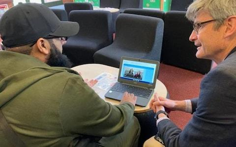 London Bridge terrorist Usman Khan seen on the Learning Together website - Credit: Learning Together
