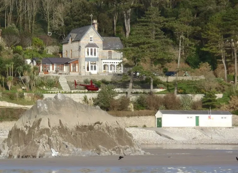 Kiley's house overlooks the Gower Coast Area of Outstanding Natural Beauty (Wales News Service)