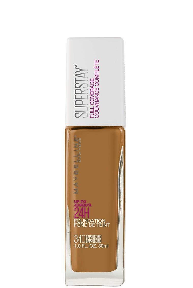 """<p>""""I love the quality of the <span>Maybelline New York SuperStay Full Coverage Liquid Foundation</span> ($10). It blends so easily and stays put. It also moves with the skin, so it stays looking fresh instead of getting patchy by the end of the day."""" - <a href=""""https://www.instagram.com/allanface/?hl=en"""" class=""""link rapid-noclick-resp"""" rel=""""nofollow noopener"""" target=""""_blank"""" data-ylk=""""slk:Allan Avendaño"""">Allan Avendaño</a>, celebrity makeup artist</p>"""