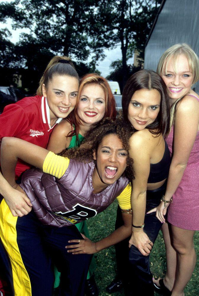 <strong>1996</strong> The Spice Girls at Radio One Roadshow