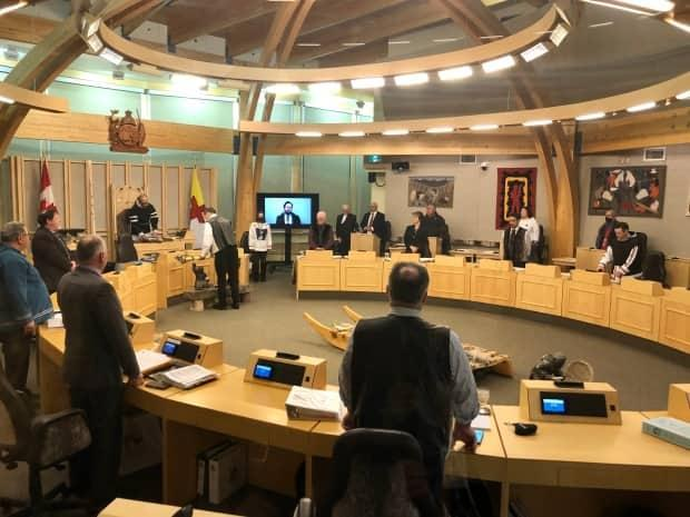 The winter sitting of the Nunavut legislature opened Monday. Environment minister Joe Savikataaq says the territory supports development when its done sustainably, and he trusts the existing environmental review to decide if the Mary River project is doing that.