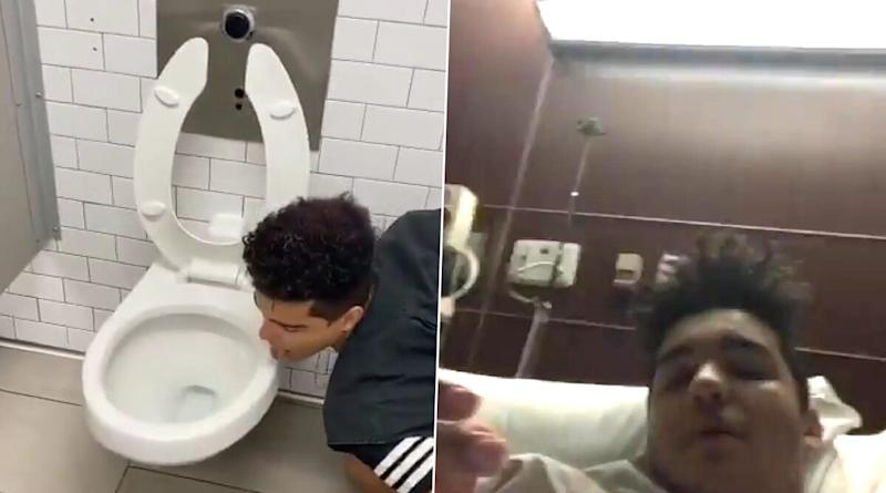 TikTok User Licks Toilet Seat for Disgusting 'Coronavirus Challenge,' Gets Hospitalised With COVID-19 (View Pics)