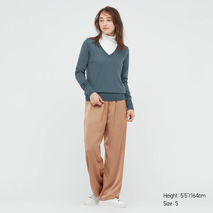 """<h2>Uniqlo Extra Fine Merino Wool </h2><br>For a more luxe dressing experience, you can't go wrong with Uniqlo's Extra Fine Merino Wool pieces. With all the warming properties of wool but without any of the roughness or thickness, these smooth-finish merino sweaters and dresses are as comfortable to wear as they are versatile.<br><br><em>Shop </em><a href=""""https://www.uniqlo.com/us/en/women/tops/sweaters-and-cardigans/extra-fine-merino-wool"""" rel=""""nofollow noopener"""" target=""""_blank"""" data-ylk=""""slk:Uniqlo Extra Fine Merino Wool"""" class=""""link rapid-noclick-resp""""><em>Uniqlo Extra Fine Merino Wool</em></a><br><br><strong>Uniqlo</strong> WOMEN EXTRA FINE MERINO V-NECK SWEATER, $, available at <a href=""""https://go.skimresources.com/?id=30283X879131&url=https%3A%2F%2Fwww.uniqlo.com%2Fus%2Fen%2Fwomen-extra-fine-merino-v-neck-sweater-443413.html"""" rel=""""nofollow noopener"""" target=""""_blank"""" data-ylk=""""slk:Uniqlo"""" class=""""link rapid-noclick-resp"""">Uniqlo</a>"""