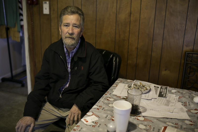McCrae Dowless, at his kitchen in Bladenboro, North Carolina, was hired for get-out-the-vote services for Republican candidate Mark Harris in North Carolina's 9th Congressional District.