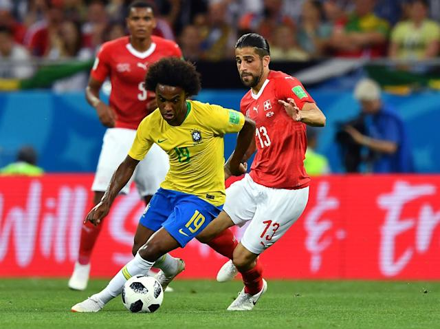Willian works hard for Brazil as his Chelsea future remains in doubt