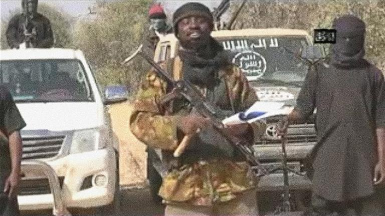 Boko Haram leader Abubakar Shekau pictured a video released by the Islamist extremist group in January 2015