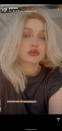 """<p>Ok, we know it's a wig but we can't help but think that Gigi Hadid looks so epic with white blonde hair she should dye it for real. The supermodel, new mum and recent <a href=""""https://www.elle.com/uk/beauty/hair/g22701/celebrity-redheads-red-hair-colour-inspiration/"""" rel=""""nofollow noopener"""" target=""""_blank"""" data-ylk=""""slk:redhead"""" class=""""link rapid-noclick-resp"""">redhead</a> took to Instagram stories to show off her latest temporary hair transformation courtesy of hairstylist Panos Papandrianos.</p>"""