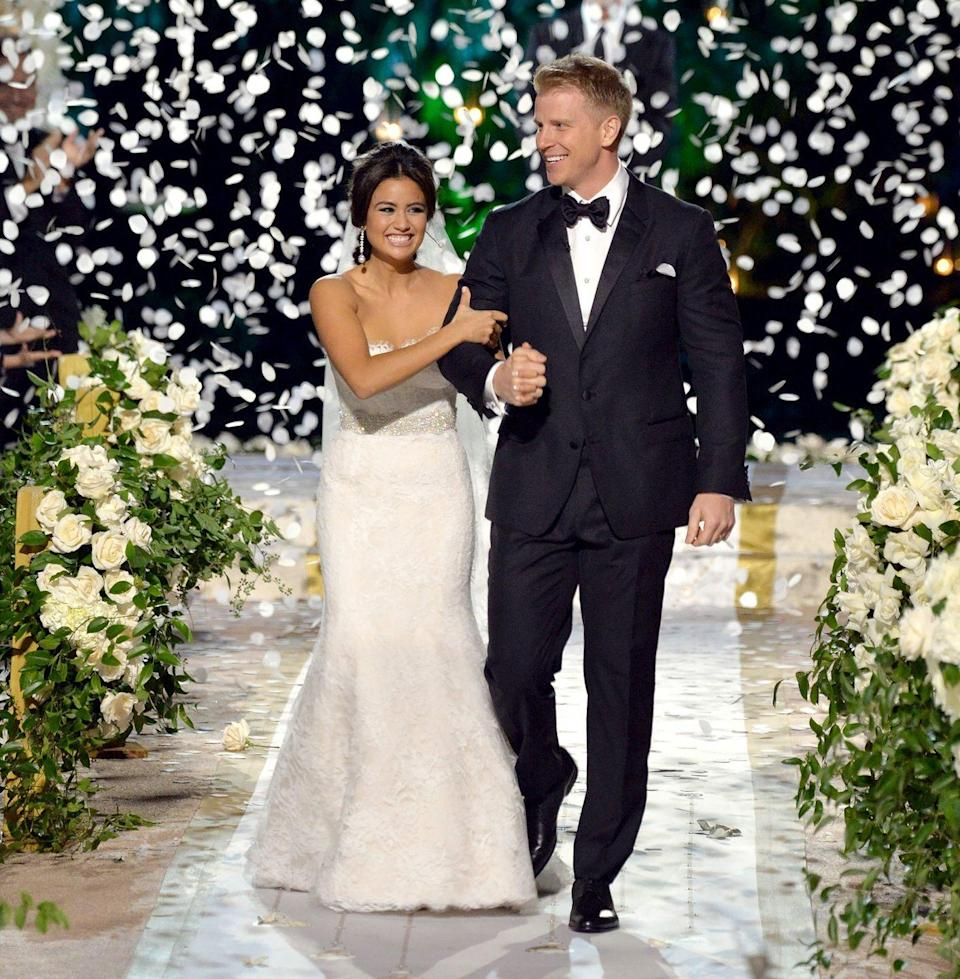"<p>The goal of<em> The Bachelor </em>and <em>The Bachelorette</em> is getting <a href=""https://www.cosmopolitan.com/entertainment/tv/a33508437/clare-crawley-dale-moss-engaged/"" rel=""nofollow noopener"" target=""_blank"" data-ylk=""slk:engaged"" class=""link rapid-noclick-resp"">engaged</a>, right? Cool, well, if you actually go through with the wedding, plz don't forget you've sold your soul to ABC! They <a href=""https://www.elle.com/culture/movies-tv/a19136467/bachelor-nation-book-most-shocking-revelations/"" rel=""nofollow noopener"" target=""_blank"" data-ylk=""slk:own the exclusive rights"" class=""link rapid-noclick-resp"">own the exclusive rights</a> to everyone's nuptials, which, normal!</p>"